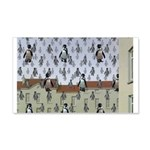 Raining Penguins 22x14 Wall Peel