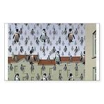 Raining Penguins Sticker (Rectangle 50 pk)