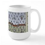 Raining Penguins Large Mug