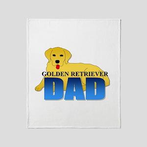 Golden Retriever Dad Throw Blanket