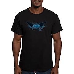 Vegan Blue Wings Men's Fitted T-Shirt (dark)
