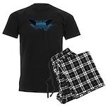 Vegan Blue Wings Men's Dark Pajamas