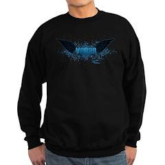 Vegan Blue Wings Sweatshirt (dark)