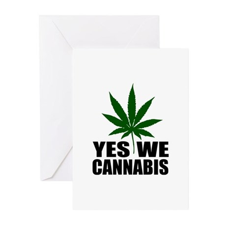 Yes we cannabis Greeting Cards (Pk of 20)