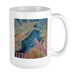 """Bench at Giverny"" (TM) Large Mug"