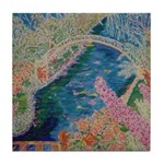 """Bench at Giverny"" (TM) Tile Coaster"