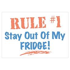 Fridge Kitchen Humor Poster
