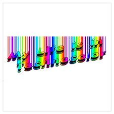 Techno Color Poster