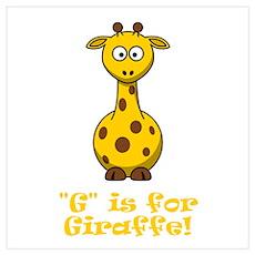 G is for Giraffe! Poster