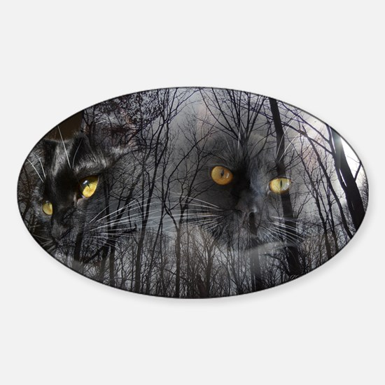 Enchanted forest 2 Sticker (Oval)