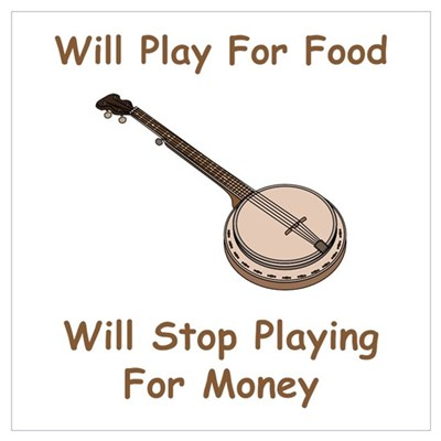 Banjo Stop Playing For Money Canvas Art