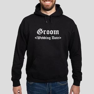 Groom (Type In Your Wedding Date) Hoodie (dark)