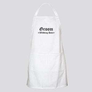 Groom (Type In Your Wedding Date) Apron