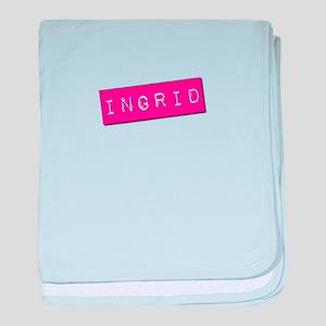 Ingrid Punchtape baby blanket