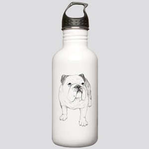 Bulldog Drawing Stainless Water Bottle 1.0L