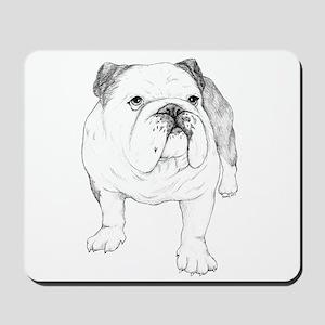 Bulldog Drawing Mousepad
