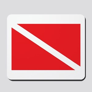 SCUBA DIVE FLAG Mousepad