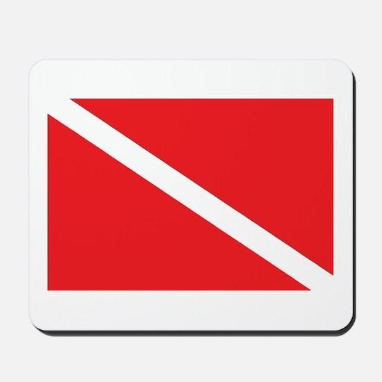 SCUBA DIVE FLAG Mousepad