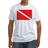 Dive flag Fitted Light T-Shirts