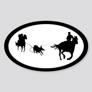 Team Roping Oval Sticker