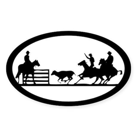 Team Penning Oval Sticker