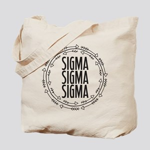 Sigma Sigma Sigma Arrows Tote Bag