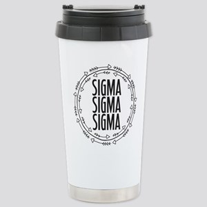 Sigma Sigma Sigma 16 oz Stainless Steel Travel Mug