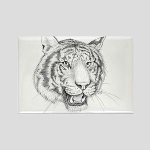 Tiger Art Rectangle Magnet