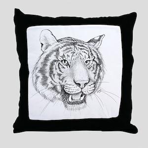 Tiger Art Throw Pillow