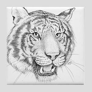 Tiger Art Tile Coaster