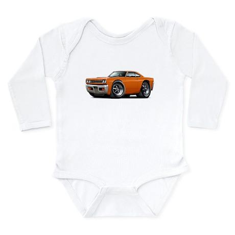 1969 Roadrunner Orange Car Long Sleeve Infant Body