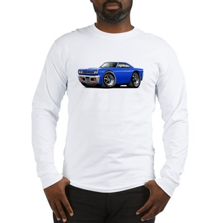 1969 Roadrunner Blue Car Long Sleeve T-Shirt