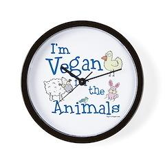 Vegan for Animals Wall Clock