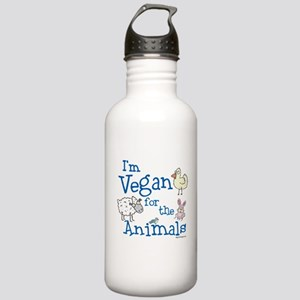 Vegan for Animals Stainless Water Bottle 1.0L