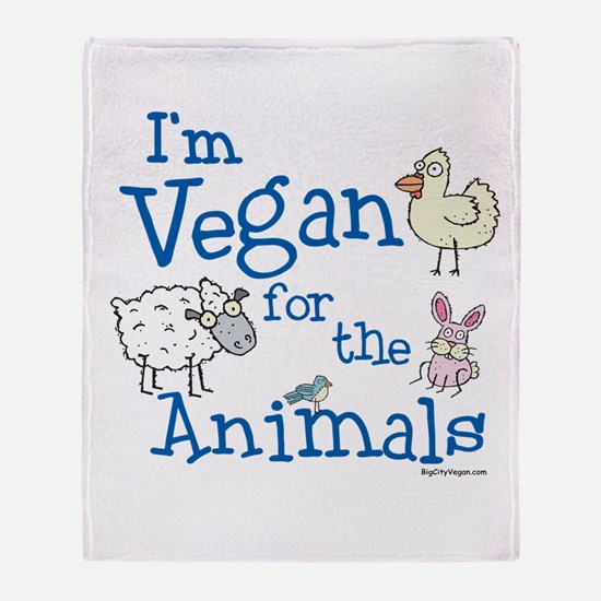 Vegan for Animals Throw Blanket