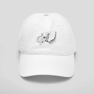 Elephant profile drawing Cap