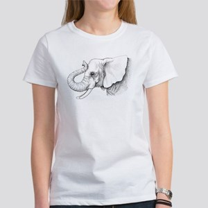 Elephant profile drawing Women's T-Shirt