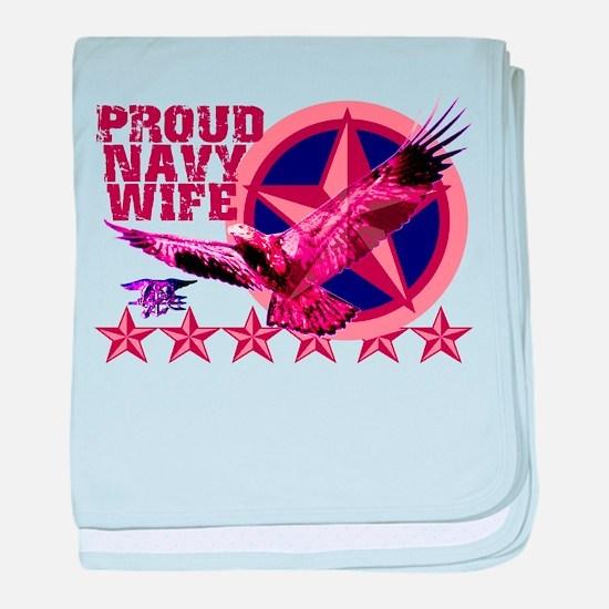 Proud Navy Wife baby blanket