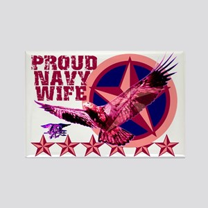 Proud Navy Wife Rectangle Magnet