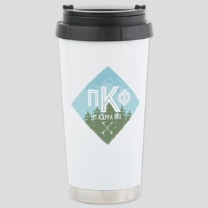 Pi Kappa Phi Moun 16 oz Stainless Steel Travel Mug