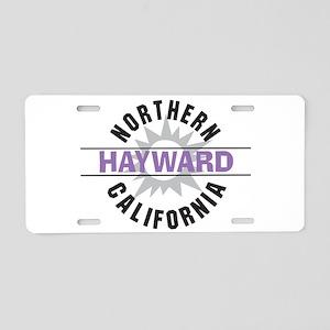 Hayward California Aluminum License Plate