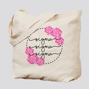 Sigma Sigma Sigma Floral Tote Bag