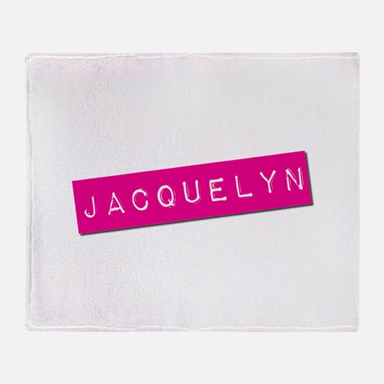 Jacquelyn Punchtape Throw Blanket