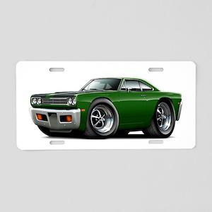 1969 Roadrunner Green-Black Aluminum License Plate