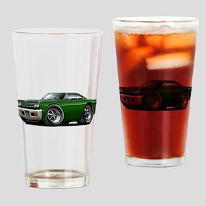 1969 Roadrunner Green-Black Drinking Glass