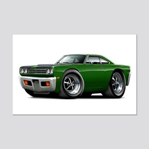 1969 Roadrunner Green-Black Mini Poster Print