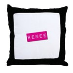 Renee Punchtape Throw Pillow