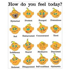 How do you feel today? II Framed Print