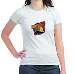 Firefighter Mom Jr. Ringer T-Shirt