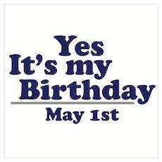 May 1 Birthday Poster